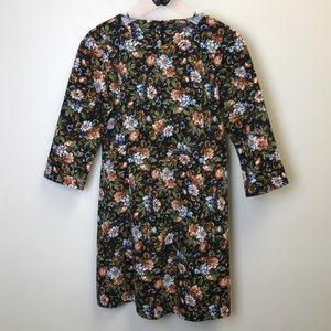 Zara Trafaluc Floral Tapestry Sheath Miño Dress